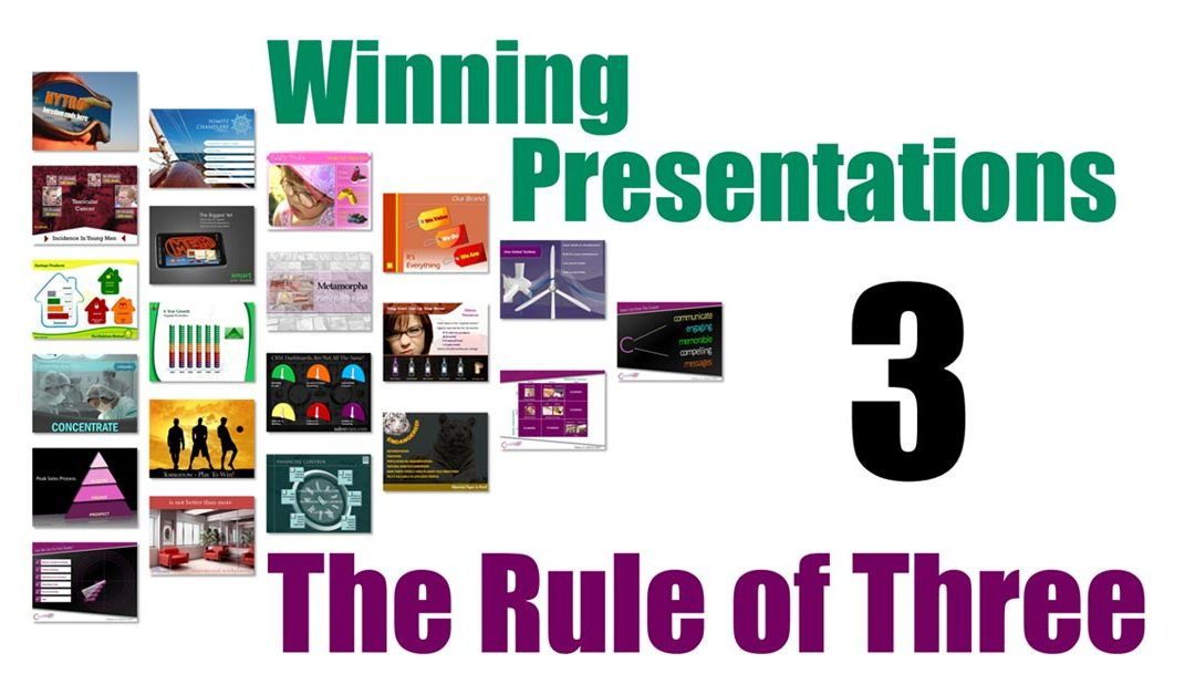 Winning Presentations – The Rule of Three