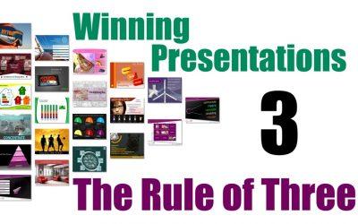 Winning Presentations – The Rule of Three
