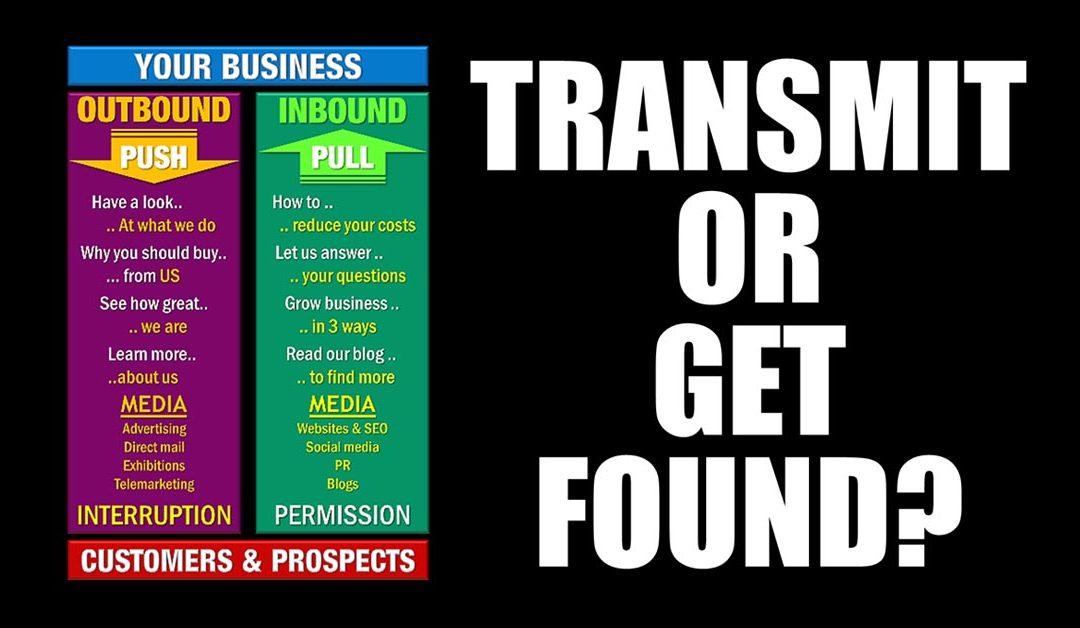 Marketing – Transmit or Get Found?